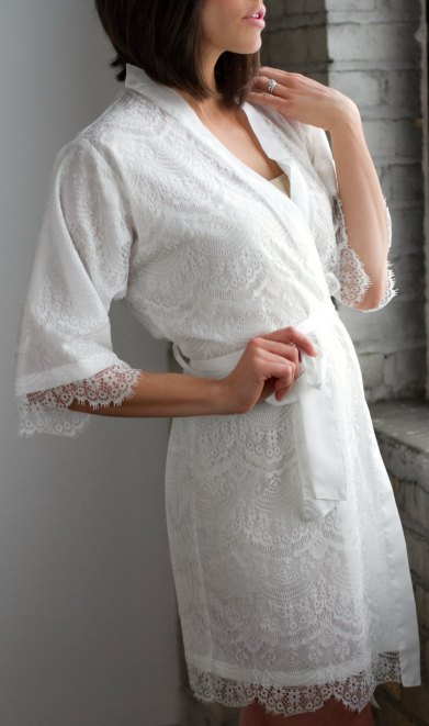 lace bridal robe - 3