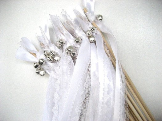 lace streamers ribbon wands with bells