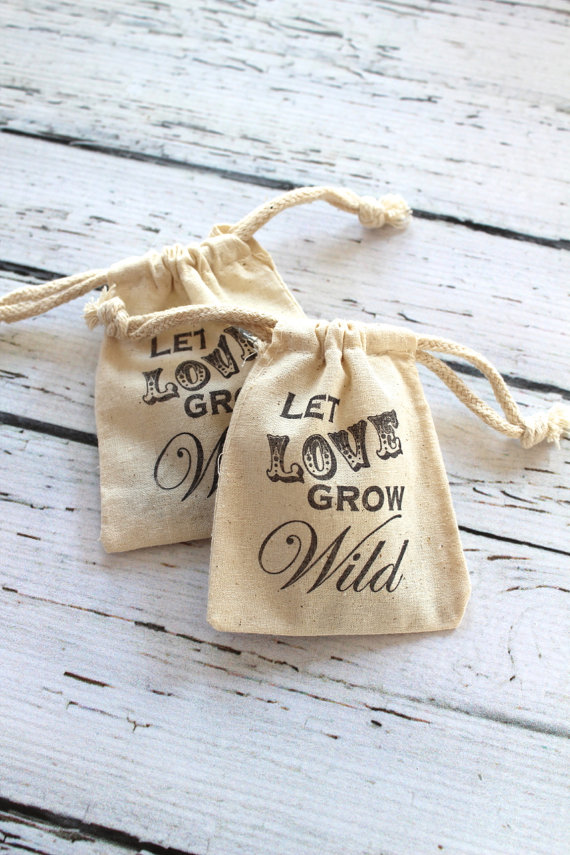 let love grow wild flower seed favors