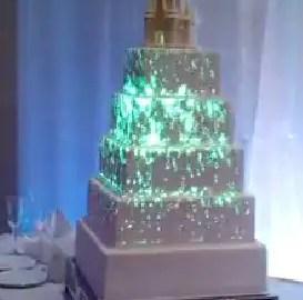 light up wedding cake