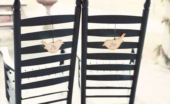 love bird chair signs