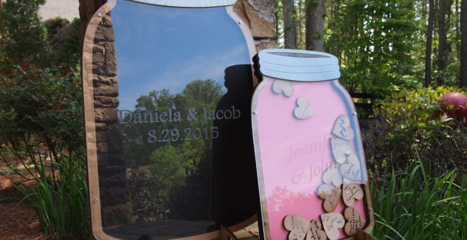 mason jar heart guest book by mister guest book