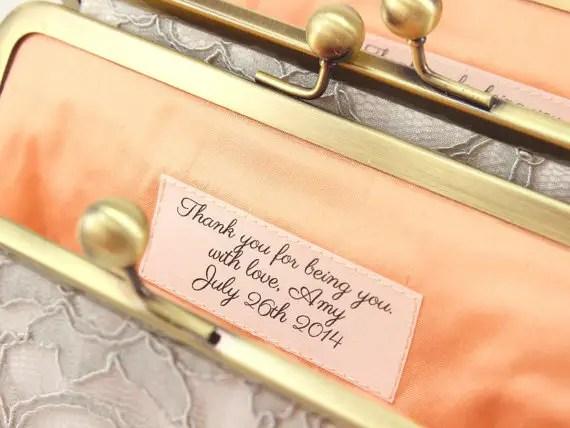 message in bridesmaid clutch - bridesmaid clutch sets