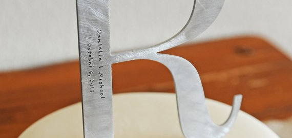 metal monogram wedding cake topper (2)