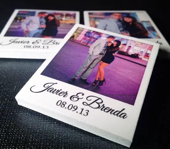 Polaroids at Weddings - mini polaroid magnets