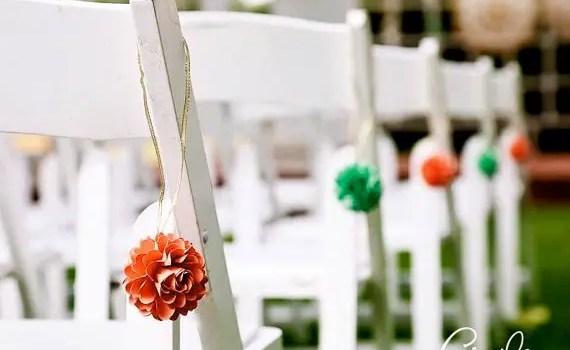 mini pomanders flower aisle decor
