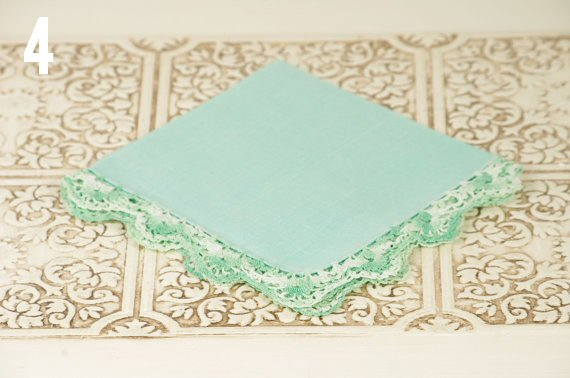 mint-handkerchief-vintage-wedding