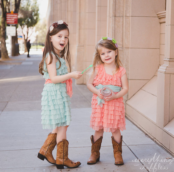 Flower Girl Dress with Ruffles (by Everything Ruffles)