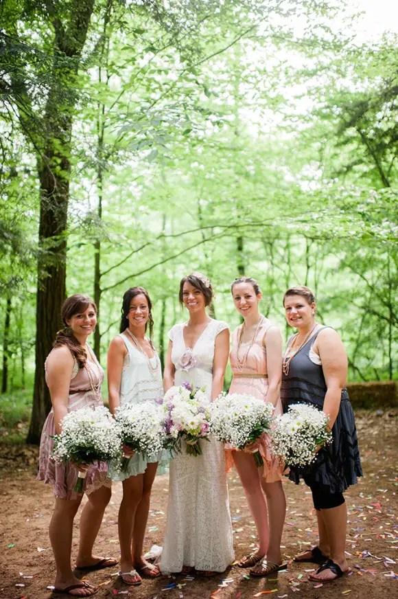 boho bridesmaids dresses