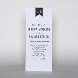 modern letterpress invitation