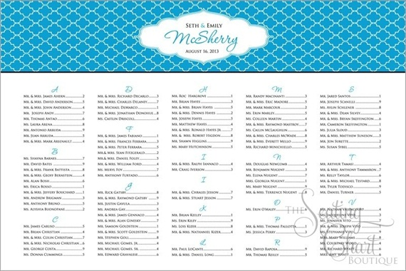 How to Assign Wedding Seats - Seating Chart by The Seating Chart Boutique