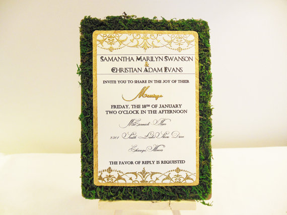 moss wedding invitations