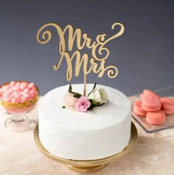 mr mrs cake topper