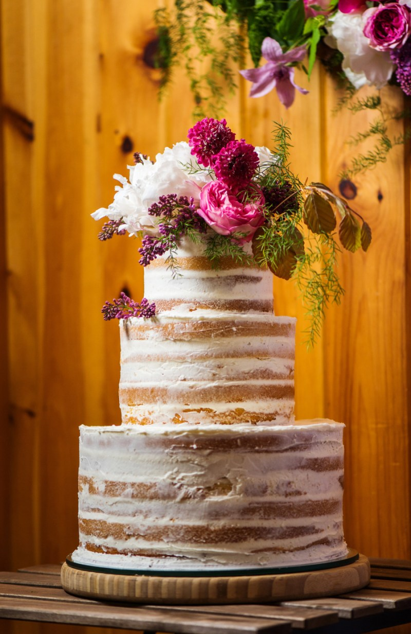 naked wedding cake