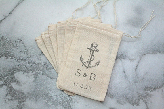 nautical wedding favors - candy bags
