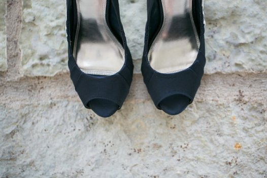 navy peep toewedding shoes for bride | via http://emmalinebride.com/bride/wedding-shoes-for-bride/