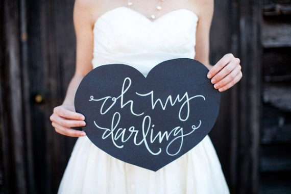 oh my darling chalkboard heart - this is a great prop for your #wedding!