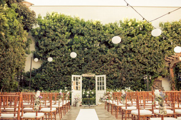outdoor wedding ceremony doors | via Ceremony Backdrops Doors | photo: Nathan Nowack