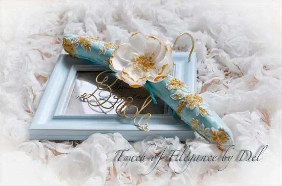 padded wedding dress hanger bride