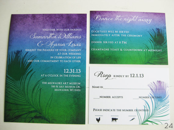 25+ Stylish Peacock Themed Wedding Ideas