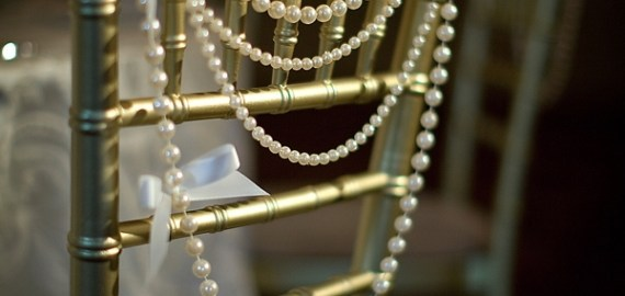 pearls as chair backs
