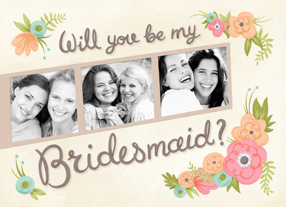 Personalized Be My Bridesmaid Cards / Maid of Honor Card