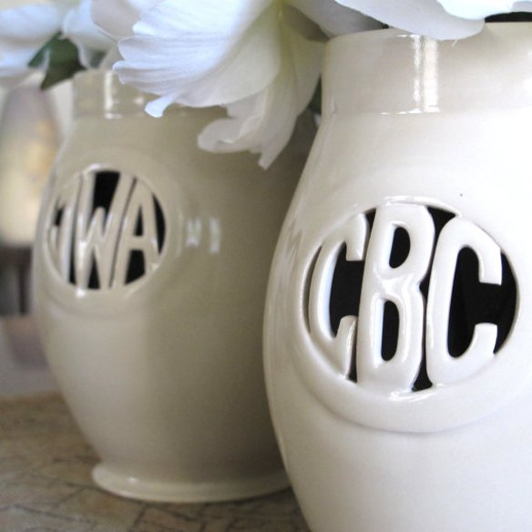 personalized bridesmaid vases