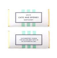 personalized candy bar favors nautical stripes