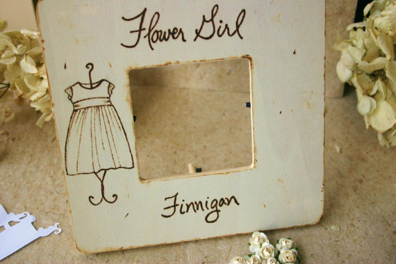 Flower Girl Frame, Personalized | Handmade Flower Girl Gifts http://emmalinebride.com/2015-giveaway/handmade-flower-girl-gifts/