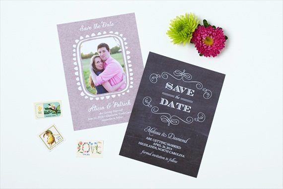 Chalkboard Script - Spring Save the Dates (by Crafty Pie Press)