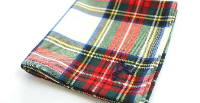 plaid groomsmen pocket square fall