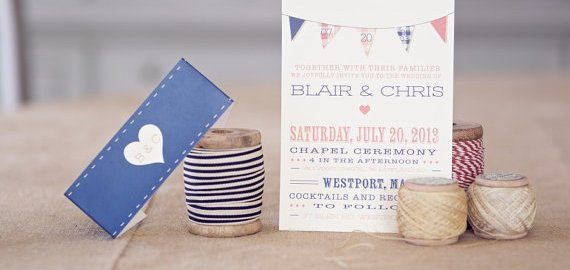 plaid wedding invitations