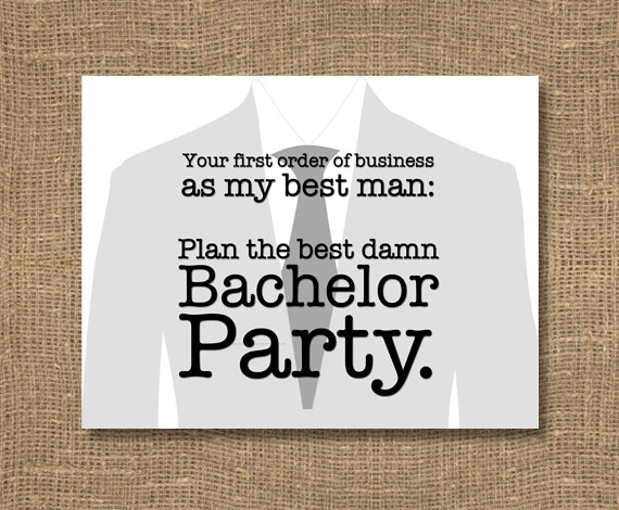 plan my bachelor party