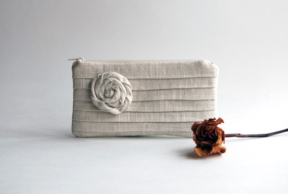 pleated bridesmaid bag