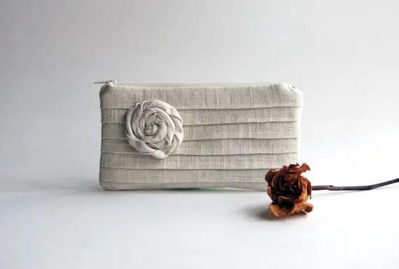pleated bridesmaid bag