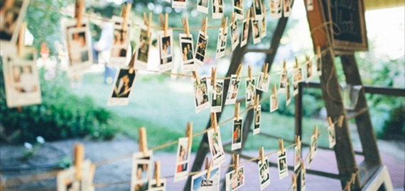 polaroid-guest-book-hanging-photos-ladders