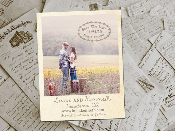 Polaroids at Weddings - polaroid save the date magnets