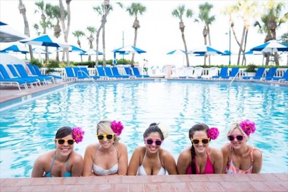 pool bachelorette party