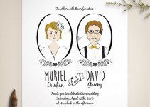 portrait wedding invitation
