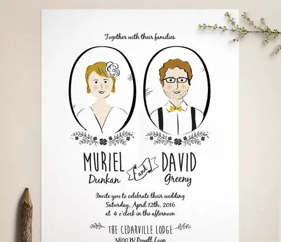 Portrait Wedding Invites