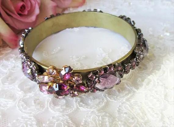 Purple Cuff Bracelet