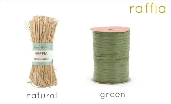 raffia ribbon