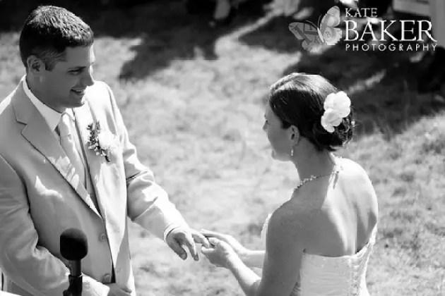 real wedding bride wearing white hair pins