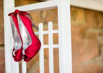red jeweled wedding shoes