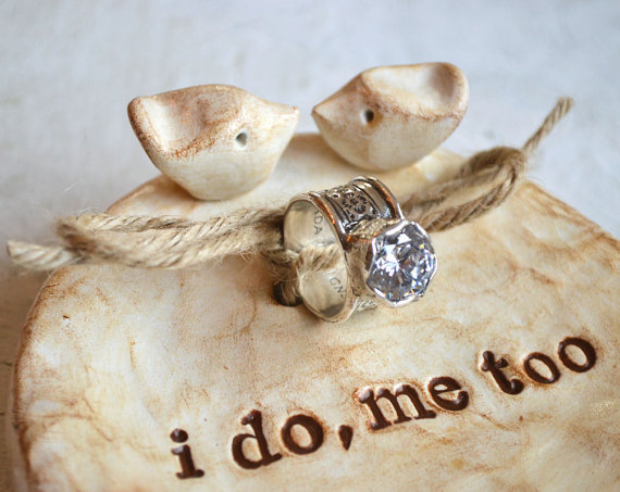 ring bearer dish - ring bearer pillow ideas