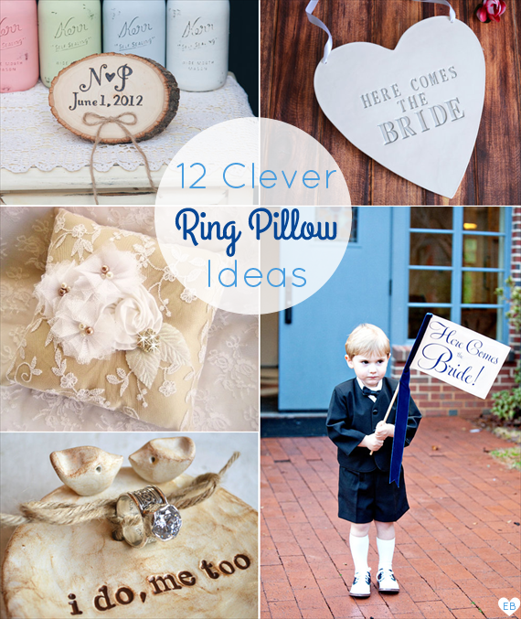 12 Clever Ring Bearer Pillow Ideas + Alternatives (via EmmalineBride.com)