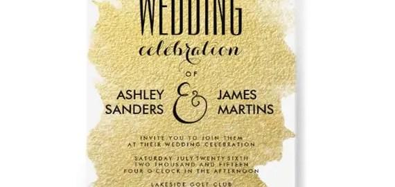 rounded wedding invitation gold