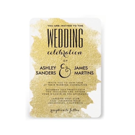 rounded wedding invitation gold via uniquely shaped wedding invitations