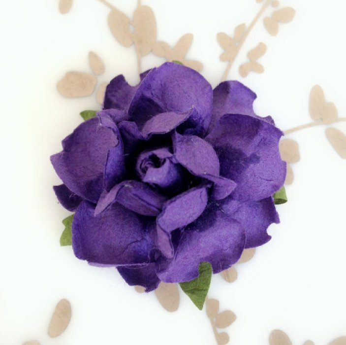 royal purple paper flowers
