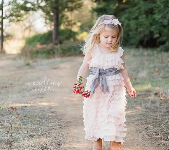 Ruffly Flower Girl Dresses